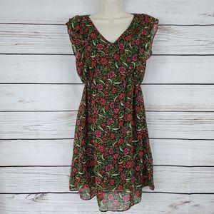 Joy Joy | Floral Ruffle Midi Dress